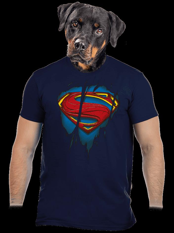 Superman Inside férfi póló kék