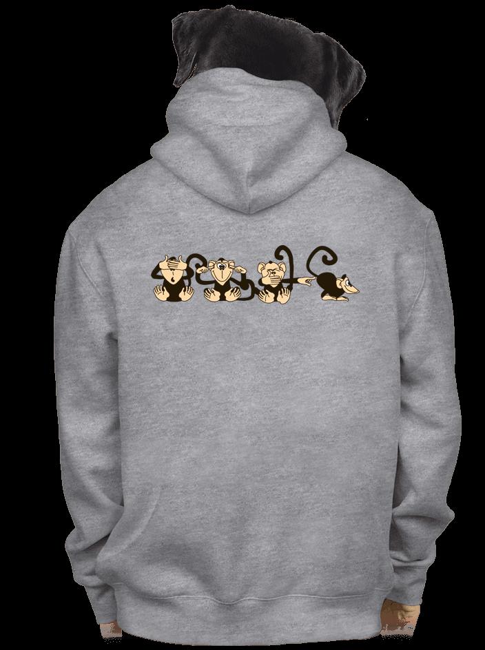 Majmok férfi pulóver szürke – hát