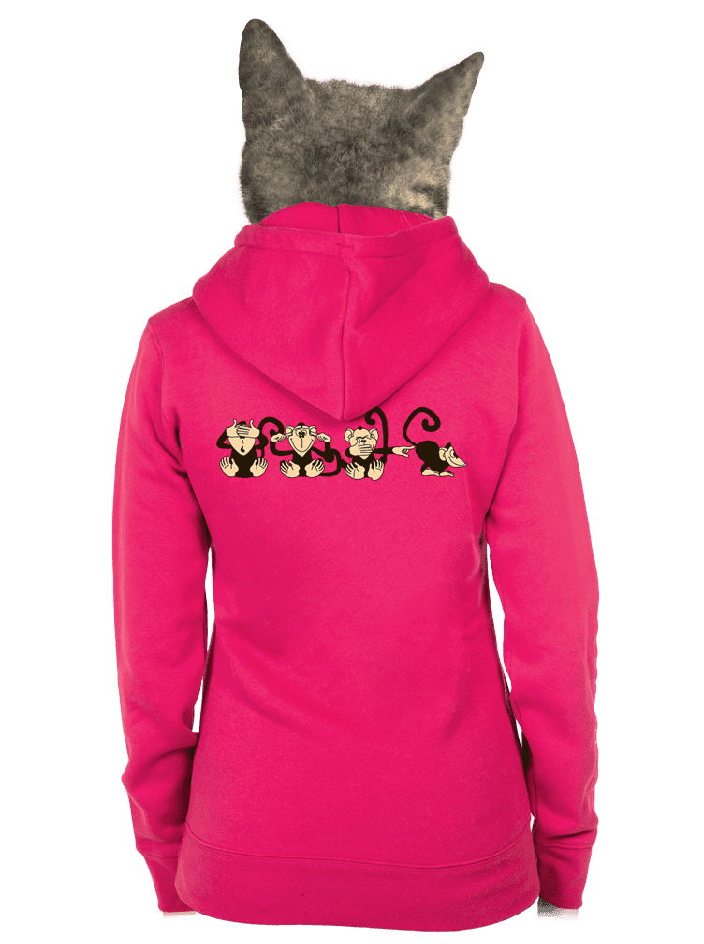 Majmok női pulóver rózsaszín – hát