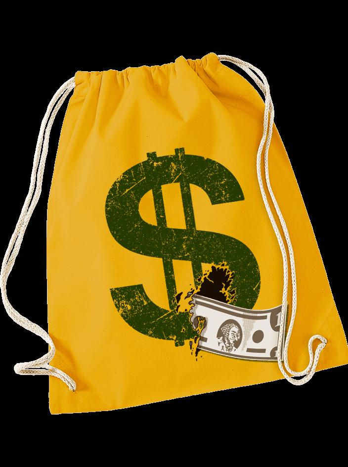 Dollár táska hátizsák sárga