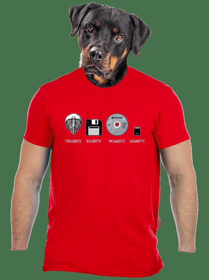 Trilobite férfi póló piros