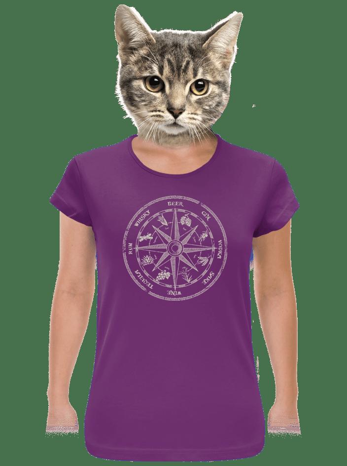 Alkoholos iránytű női póló