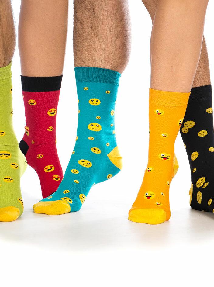 Emoji szett 5 pár zokni