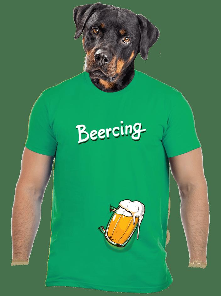 Beercing férfi póló zöld