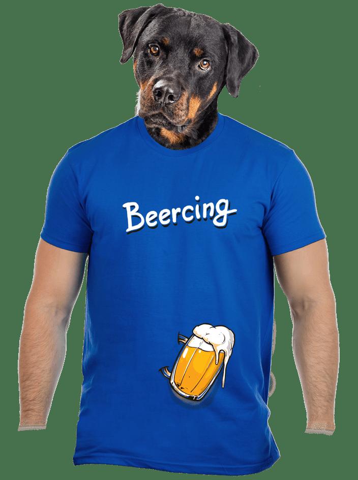Beercing férfi póló kék
