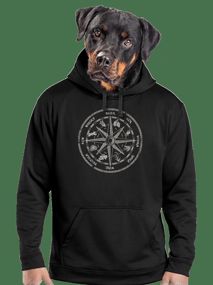 Alkoholos iránytű férfi pulóver