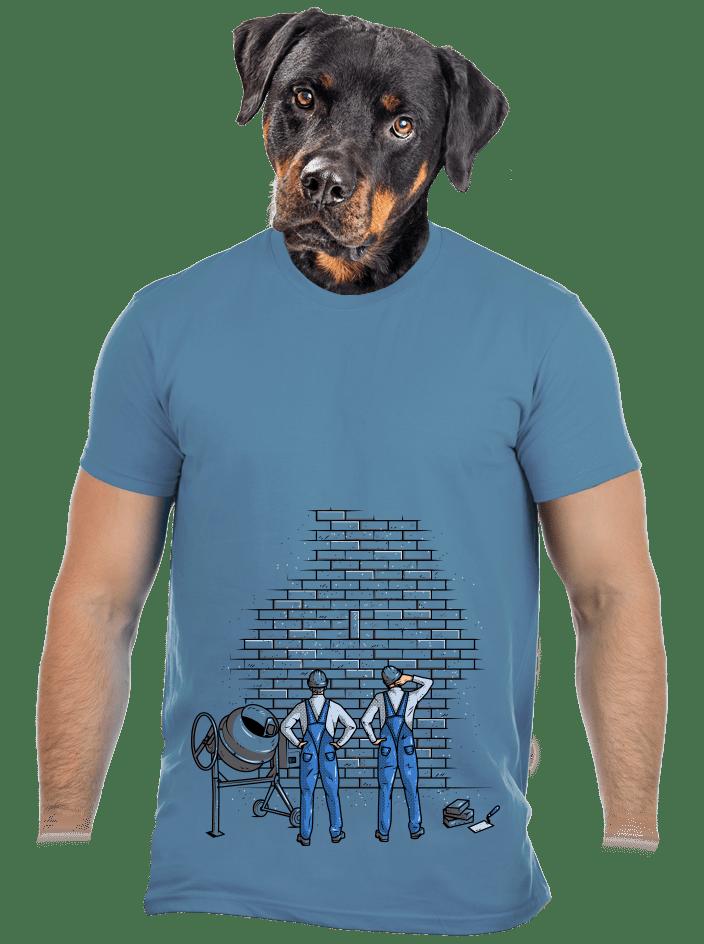 Kőműves férfi póló kék