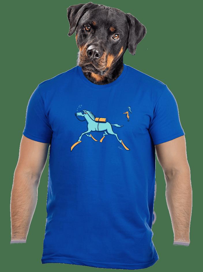 Csikóhal férfi póló