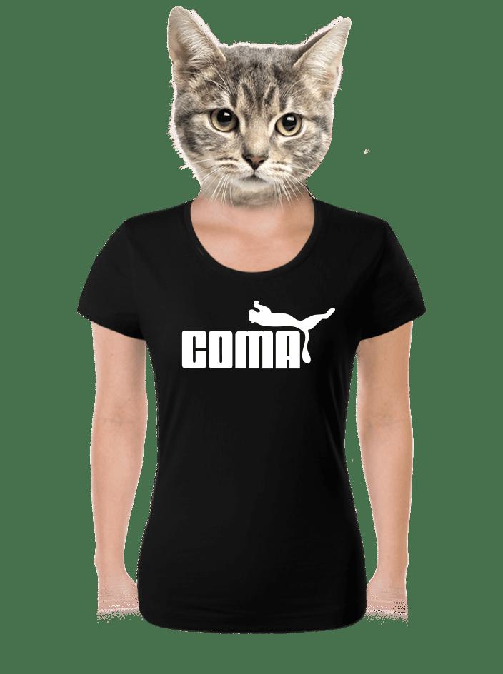 Coma fekete női póló