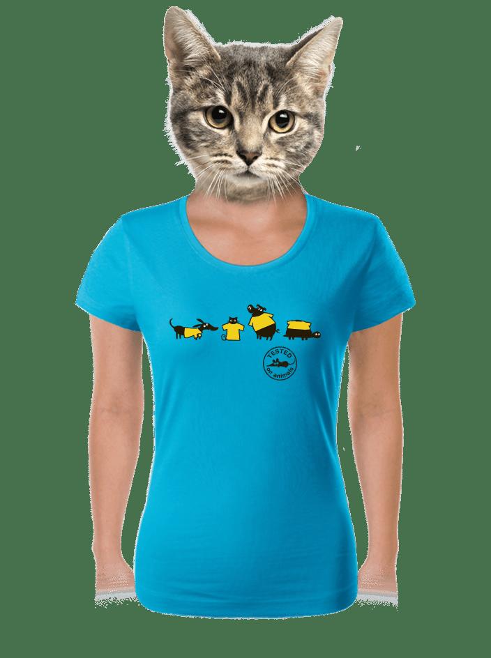 Állatokon tesztelve női póló