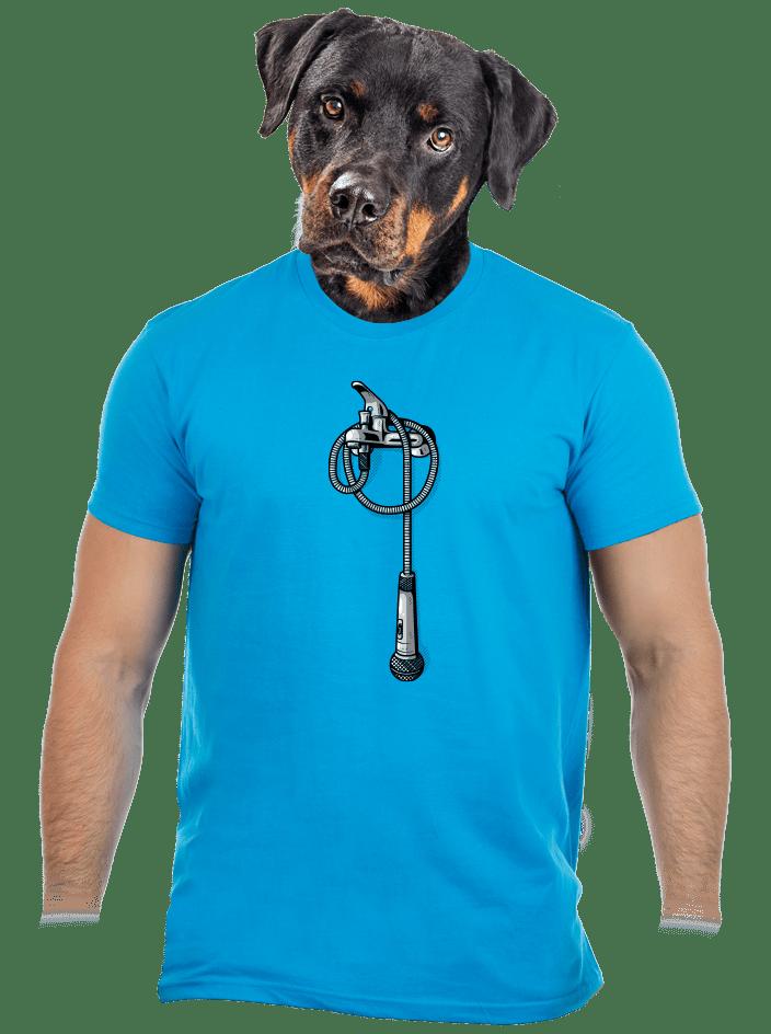 A zuhanny alatt férfi póló