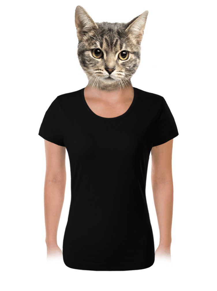 Női póló fekete