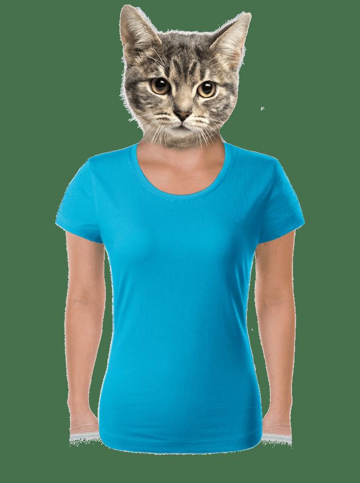 Női póló türkizkék