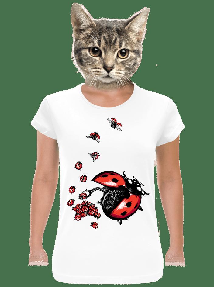Ladybird Factory női póló fehér