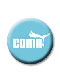 Coma kitűző