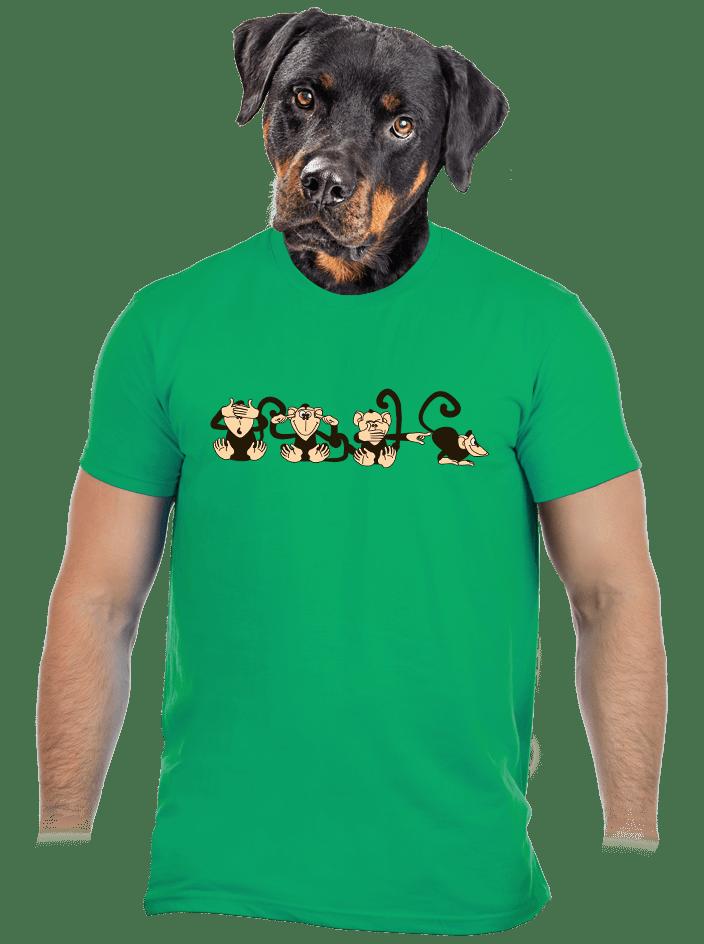 Majmok férfi póló zöld