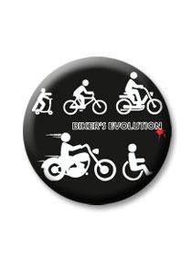 Bikers evolution kitűző