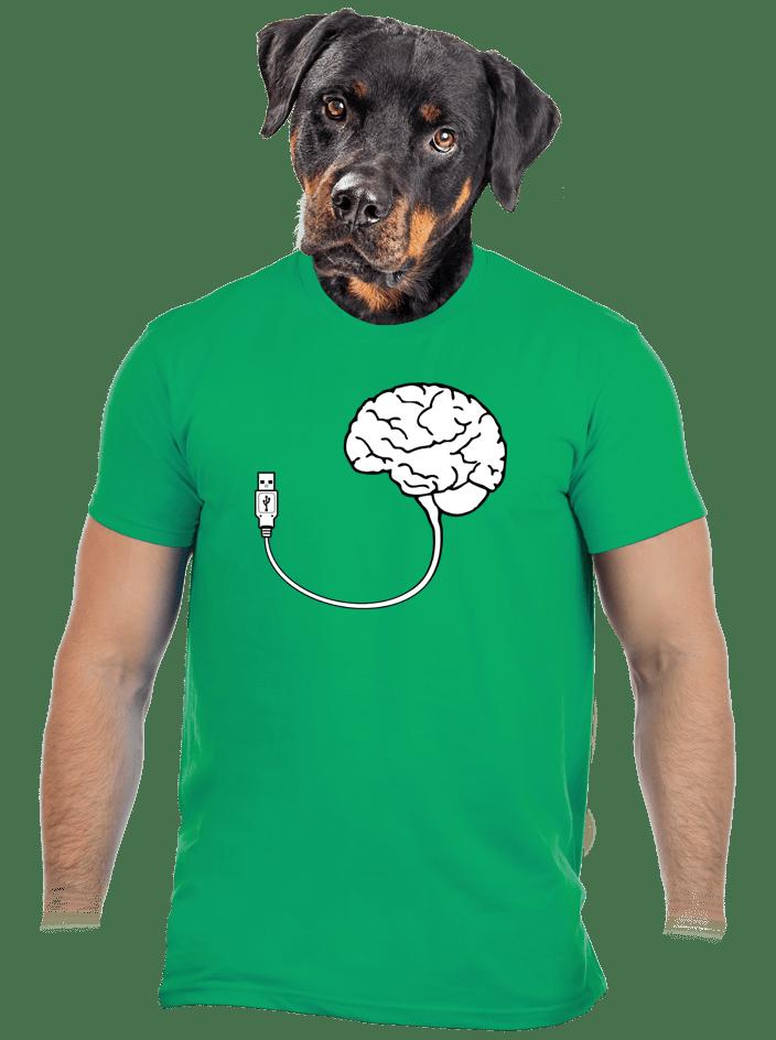 USB agy férfi póló zöld