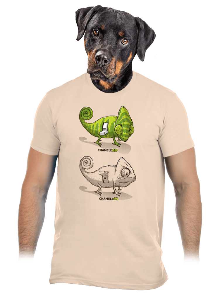 ChameleON ChameleOFF férfi póló barna
