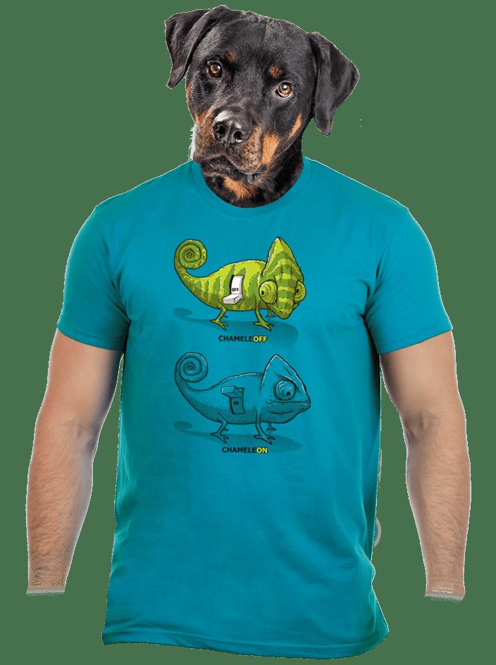 ChameleON ChameleOFF férfi póló kék