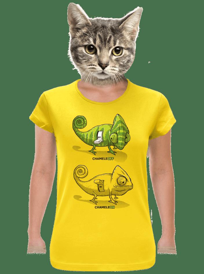 ChameleON ChameleOFF női póló sárga