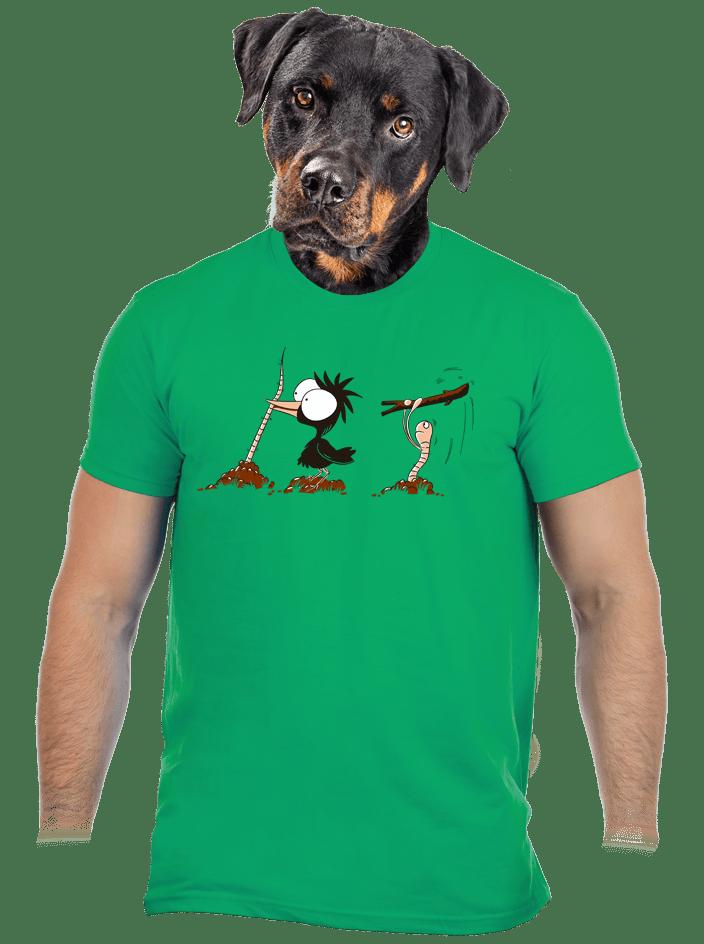 Vigyázz, melyik végét fogod férfi póló zöld