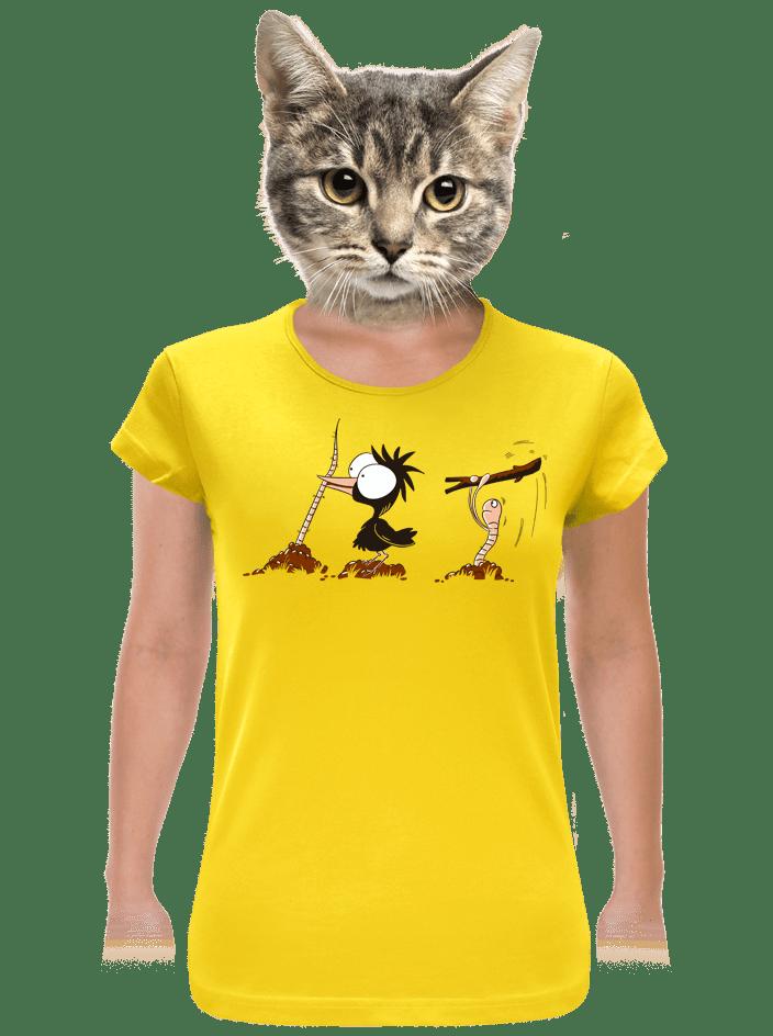 Vigyázz, melyik végét fogod női póló sárga