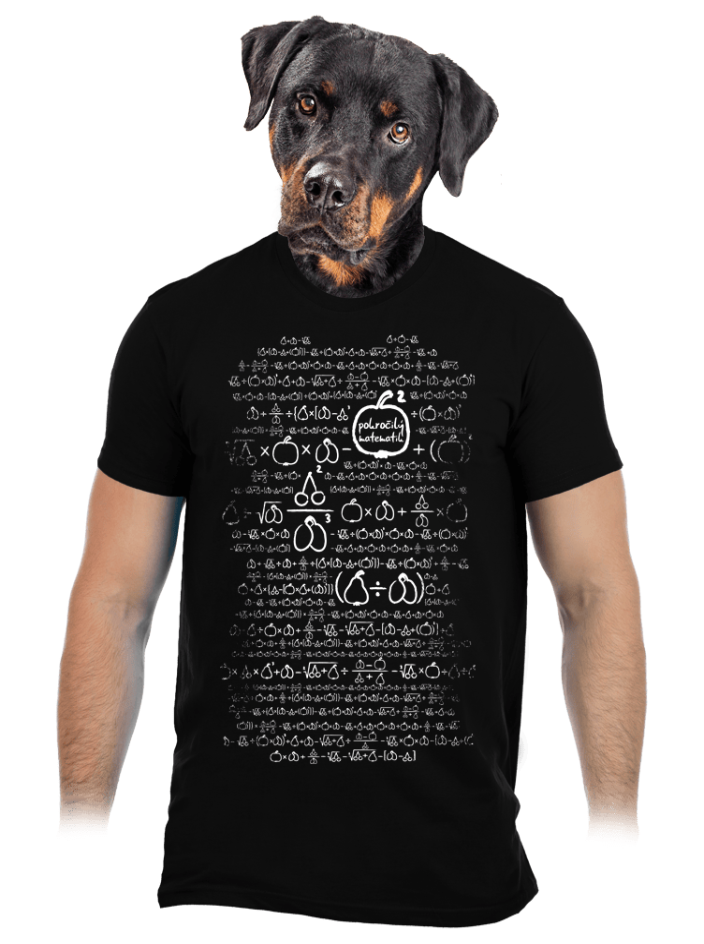 Matematikus férfi póló fekete