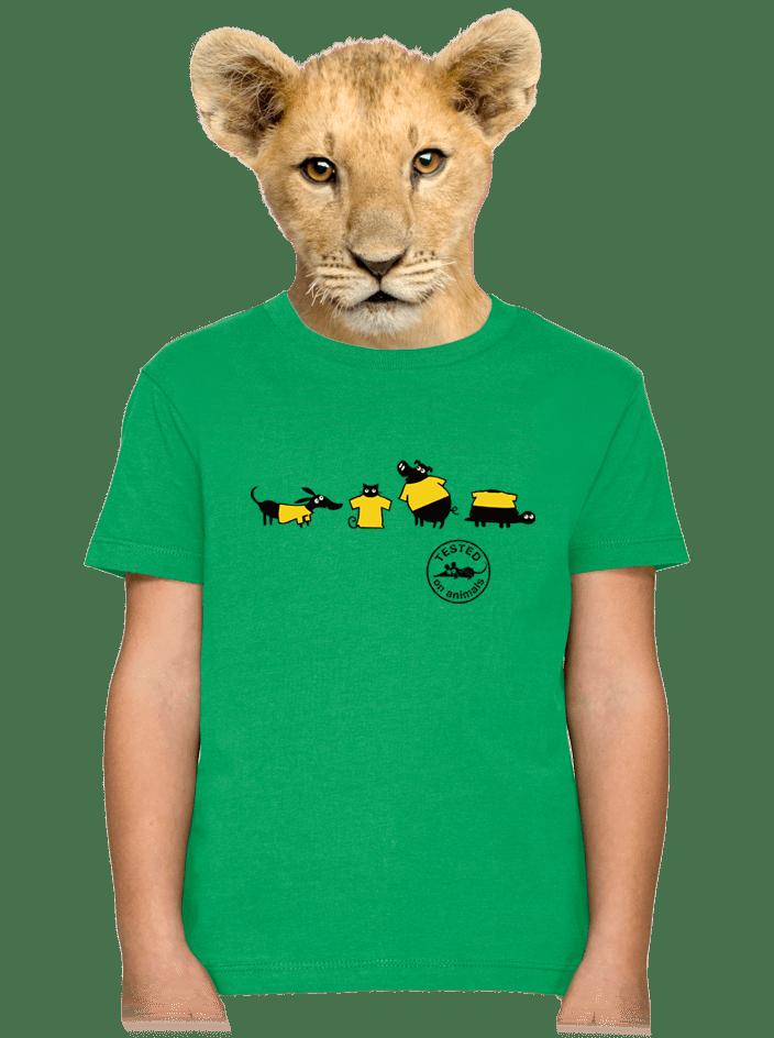 Állatokon tesztelve gyerek póló