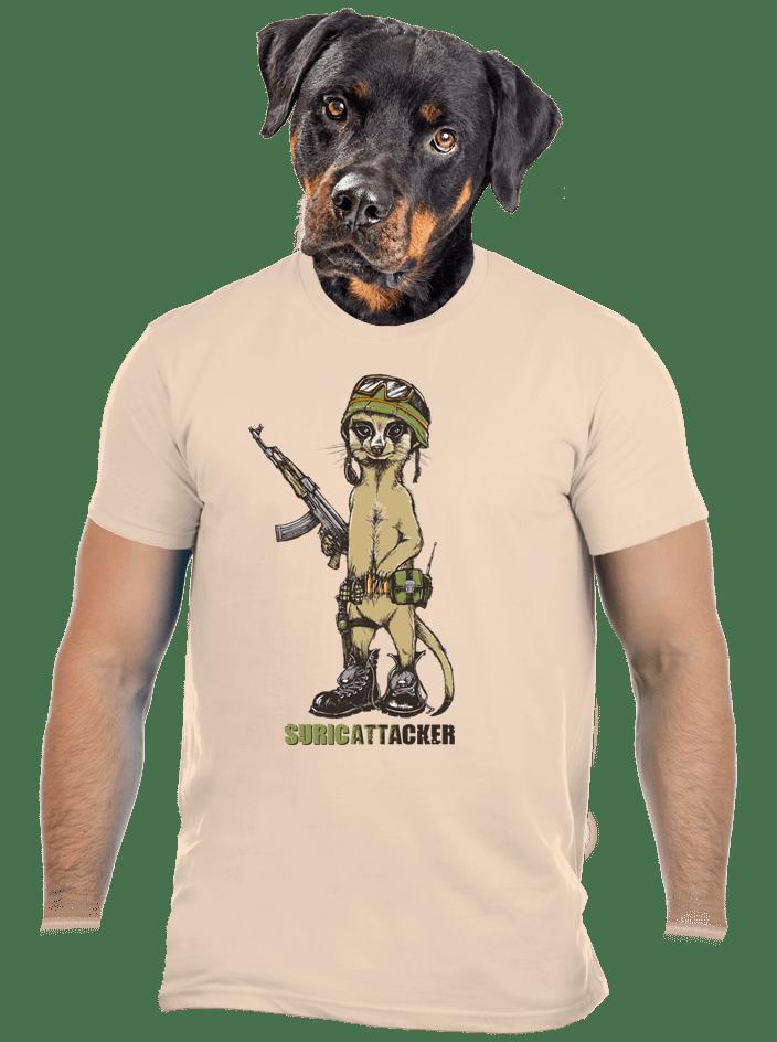 Suricattacker férfi póló barna