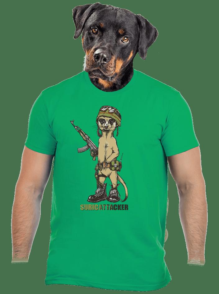 Suricattacker férfi póló zöld