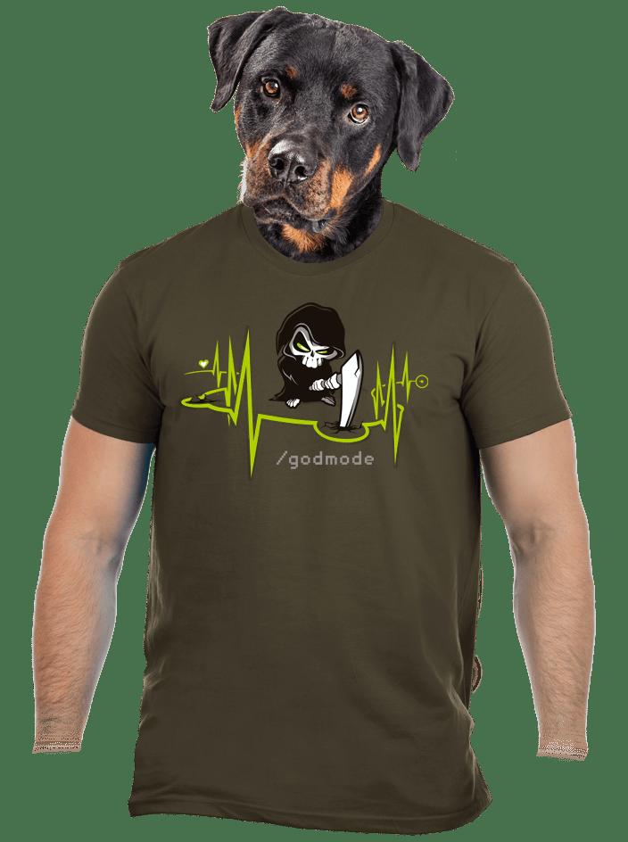 Isteni beavatkozás férfi póló khaki