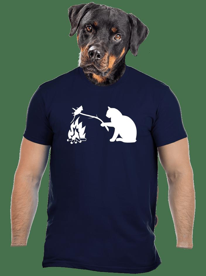 Macska-egér harc férfi póló