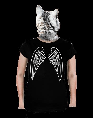 Szárnyak női póló fekete